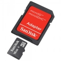 Cartão de Memoria SANDISK 4GB SD - COM ADAPTADOR
