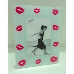 Porta retrato de Vidro - Beijos