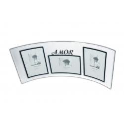Porta Retrato de Vidro 10x15cm Triplo